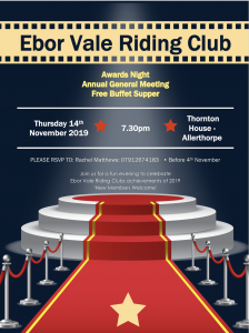 Riding Club Annual AGM and Awards Evening @ Thornton House Farm, Sutton Ln, Barmby Moor YO42 4DD
