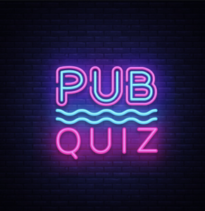Virtual Pub Quiz @ Next to you Computer with a Glass of Wine or Beer or whatever your tiple!